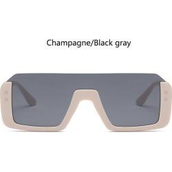 Costbuys  High quality woman fashion trends famous half square sunglasses men luxury beige blue glasses flat top sun glasses - c