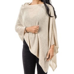 Beige Classic Cashmere Poncho found on Bargain Bro UK from black.co.uk