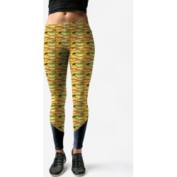 Leggings - Playing With Poka Dots: T in Brown/Orange/Yellow by VIDA Original Artist found on Bargain Bro Philippines from SHOPVIDA for $75.00
