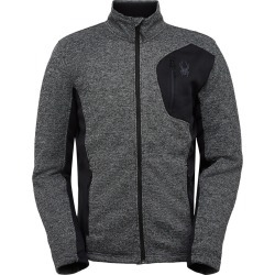 Spyder Men's Bandit Fleece Jacket Size Small in Black Alloy