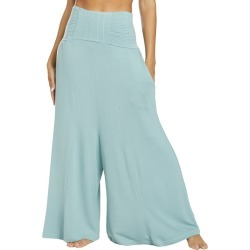 Free People Women's Movement Going Places Convertible Pants - Green Medium Spandex