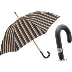 Black and Sand Striped Luxury Umbrella found on Bargain Bro UK from black.co.uk