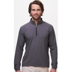 tasc Performance Air Flex 1/4 Zip for Men in Smoked Pearl.Size L