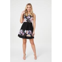Floral Panel Fit & Flare Dress found on Bargain Bro UK from Izabel London UK