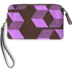 Leather Statement Clutch - Abstracts By Cat #1 in Purple by PRIDE Original Artist