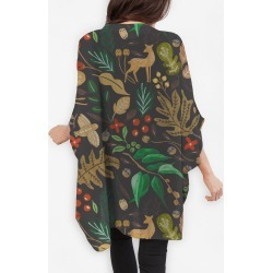 Cocoon Wrap - Christmas Holiday Night in Brown/Yellow by Always Seek Original Artist found on Bargain Bro India from SHOPVIDA for $110.00