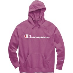 Champion Womens Powerblend Fleece Pullover Hoodie Script Logo GF934 Y07418 found on Bargain Bro Philippines from Freshpair for $36.00