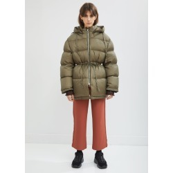 Acne Studios Short Hooded Puffer Jacket Olive Green Size: Fr 38 found on MODAPINS from la garconne for USD $850.00