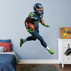 """Tyler Lockett for Seattle Seahawks - Officially Licensed NFL Removable Wall Decal Life-Size Athlete + 2 Decals (52""""W x 76""""H) by"""