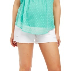 Secret Fit Belly Fray Hem Maternity Shorts found on Bargain Bro Philippines from motherhood for $24.97