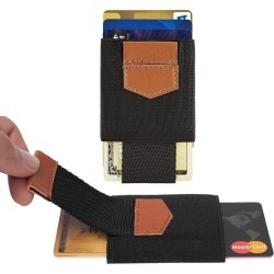 Samsung Galaxy S6 Edge - Slim Elastic Card Holder Wallet, Black/Brown found on Bargain Bro India from cellularoutfitter.com dynamic for $9.99