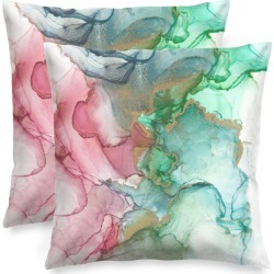 Square Pillow Cover - Giants in Blue/Green/Pink by VIDA Original Artist found on Bargain Bro Philippines from SHOPVIDA for $45.00