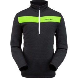 Spyder Men's Encore Fleece Jacket Size Small in Black Mojito