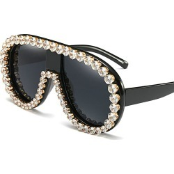 Costbuys  MINCL/2017 Italy Oversized Sunglasses Women Brand Designer Diamond Big Frame Sun Glasses For Womens Gold Retro Woman S found on Bargain Bro India from cost buys for $79.95