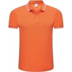 Costbuys  Men's Polo Shirt Men Cotton Short Sleeve shirt Brand jerseys Summer Solid Male Polo Top - Orange / S found on Bargain Bro India from cost buys for $101.99
