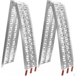 2x Heavy Duty Aluminium Trailer Ramps