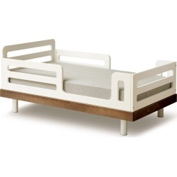 Classic Toddler Bed - White/Walnut
