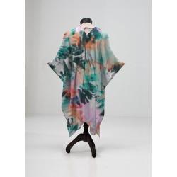 Sheer Wrap - Tie Dye 33w in Blue/Orange/Pink by Always Seek Original Artist found on MODAPINS from SHOPVIDA for USD $120.00