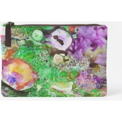 Carry-All Pouch - Carry All Essence 34-1 in Green/Purple by VIDA Original Artist