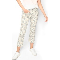 Nicole Miller Camouflage Cropped Flare Jeans | Spandex/Cotton/Cashmere | Size 29 found on MODAPINS from Nicole Miller for USD $165.00