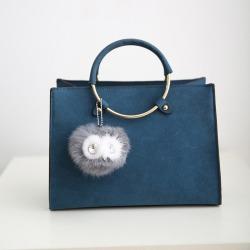 Costbuys  New Women Bag Fashion PU Leather Women's Handbags Bolsas Top-Handle Bags Tote Women Shoulder Messenger Bag - Blue