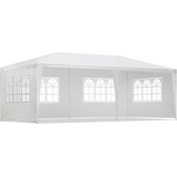 3X6M Gazebo Party Wedding Marquee Event Tent Shade Canopy White