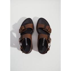 Ann Demeulemeester Leather Platform Sandals Malta Khaki Size: 40 found on MODAPINS from la garconne for USD $793.00