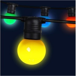 23M Led Festoon String Lights 20 Bulbs Multicolored G45 found on Bargain Bro Philippines from Simply Wholesale for $88.36
