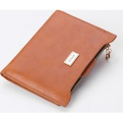 05d881ff98e Costbuys Solid leather women wallets with coin pocket bag removable slot  purse for ladies - Orange