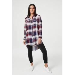 Checked Longline Shirt found on Bargain Bro UK from Izabel London UK