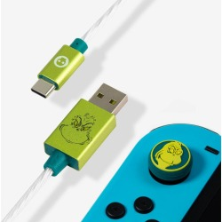 Official The Grinch LED USB C Cable & Thumb Grips (Nintendo Switch) found on Bargain Bro UK from yellow bulldog