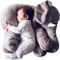 Costbuys  40/60cm Pillow Soft Sleeping Stuffed Animals Plush Toys Baby doll Playmate gifts for Children - 60cm / grey