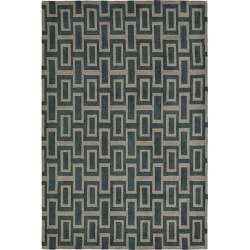 Intaglio Black Designer Hand Tufted Rug found on Bargain Bro from Simply Wholesale for USD $1,237.61