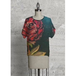 Modern Tee - The Red Rose in Brown/Red by VIDA Original Artist found on Bargain Bro Philippines from SHOPVIDA for $80.00