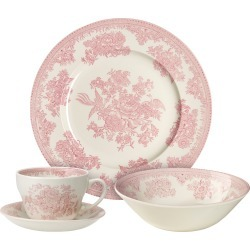 Pink Asiatic Pheasants Breakfast Set