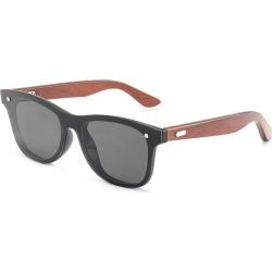 Costbuys  Bamboo Wood Frame Sunglasses Men Square Sun Glasses Mirror Coating Women Eyewear Shades Oculos de sol Gafas - 02