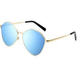 Costbuys  Retro Oval Sunglasses Men Metal Sun glasses Ladies Mirror Glasses Vintage Transparent oculos de sol masculino - Blue