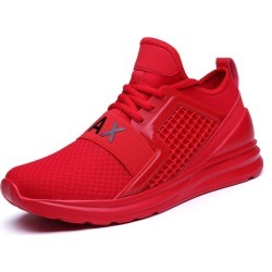 Costbuys  New Breathable Air Mesh Men Running Shoes Jogging Gym Training Althetic Outdoor Sport Shoes Red Green Sneakers - Red /