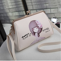 Costbuys  Women's bag summer new clip shell shell shoulder bag Korean version of wild bag small bag tide Crossbody Bags - Beige