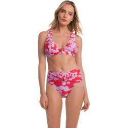 Bali Blossoms Halter - Red / 6 found on Bargain Bro India from Trina Turk - Dynamic for $84.00