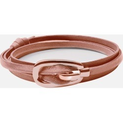 Miansai Bracelet - New Gamle Leather Bracelet, Rose Plated found on MODAPINS from miansai for USD $45.00