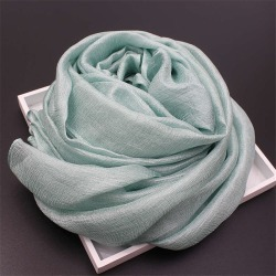 Costbuys  Women Scarf Pure Color Luxury Brand Scarf Female Shawl Ladies Scarves Travel Beach Shawl - color24 found on Bargain Bro India from cost buys for $65.00