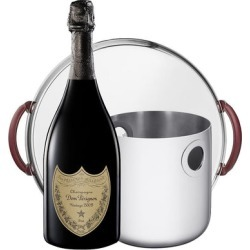 Dom Perignon Vintage Christofle Mood Nomade Round Tray and Oh de Christofle Champagne Cooler Bucket