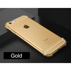 Costbuys  Shock proof Cell Phone Case for iPhone 7 7s Plus iPhone 7Plus Clear Black Rose Gold Purple Silicone Mobile 360 Back Co