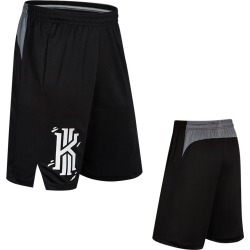 Costbuys  Men Sport Basketball Shorts Loose Plus Size Basketball Shorts with Pocket Mens Training Quick Dry Running Shorts - bla