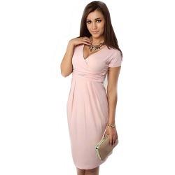 5a84322b3c7 Costbuys Summer Dress Women Big Size Short Sleeve V neck Work Office Slim  Casual Bodycon Pencil