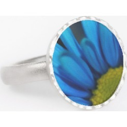 Round Statement Ring - Blue Daisy in Blue/Green/Yellow by VIDA Original Artist found on Bargain Bro India from SHOPVIDA for $65.00
