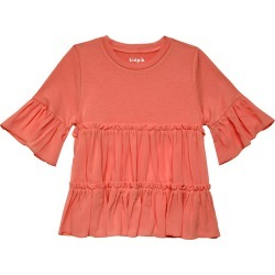 Tiered Ruffle Top - M (10) Calypso Coral