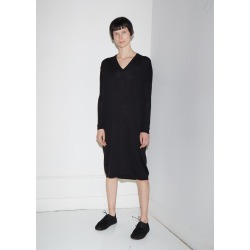 6397 Extra Fine Merino Wool V-Neck Dress Black Size: X-Small found on MODAPINS from la garconne for USD $425.00
