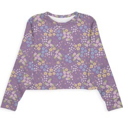 Modern Eco Sweatshirt - Purple Ditsy Floral Patte by VIDA Original Artist found on Bargain Bro India from SHOPVIDA for $80.00